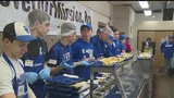 Glacier baseball team serves community at Rescue Mission