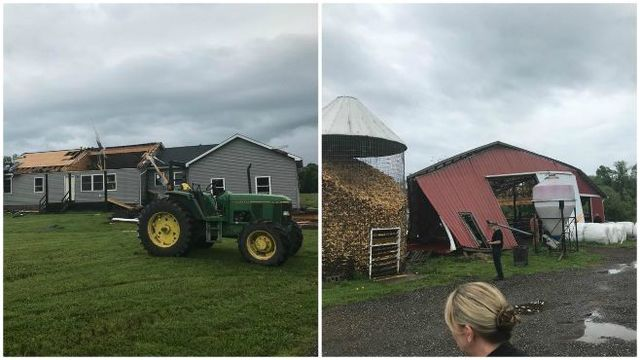 Storm tears off roof in Geauga County